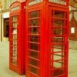 Retro looking London telephone box — Stock Photo #35040105