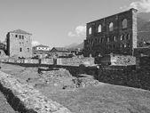 Roman Theatre Aosta — Stock Photo