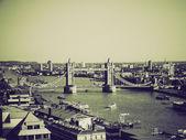 D'epoca seppia torre ponte di londra — Foto Stock