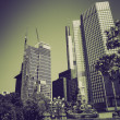 Vintage sepia European Central Bank in Frankfurt — Stock Photo