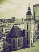 Vintage sepia St Paul Church Frankfurt — Stock Photo