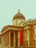 复古看国家画廊,伦敦 — 图库照片
