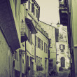 Vintage sepia Rivoli old town, Italy — Stock Photo