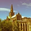 Stock Photo: Retro look Glasgow cathedral