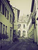 Cidade velha vintage sépia rivoli, itália — Zdjęcie stockowe