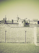 Vintage sepia Tower of London — Stock Photo