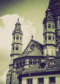 Vintage sepia St Stephan church Mainz — Stock Photo