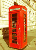 Caja de teléfono de londres aspecto retro — Foto de Stock