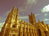 Retro looking Canterbury Cathedral — Stock Photo