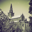 Stock Photo: Vintage sepiGlasgow cathedral