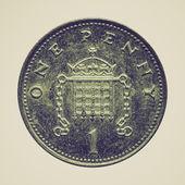 Vintage sepia Pounds — Stock Photo