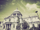 Vintage sepia St Paul Cathedral London — Stock Photo
