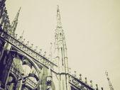 Vintage sepia Duomo, Milan — Stock Photo