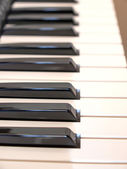 Music keyboard keys — Stock Photo