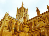 Retro looking Southwark Cathedral, London — Stock Photo