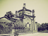 Vintage sepia Sant Eustorgio church, Milan — Stock Photo