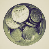 Vintage sepia Pounds picture — Stock Photo