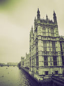 Vintage sepia Houses of Parliament — Stock Photo