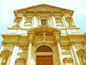 Retro looking San Fedele church, Milan — Stock Photo