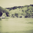 Vintage sepia River Po Turin — Stock Photo