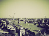 Vintage sepia Tower Bridge London — Stock Photo