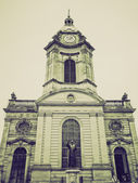 Vintage sepia St Philip Cathedral, Birmingham — Stock Photo
