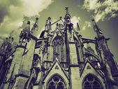 Vintage sepia Johanneskirche Church, Stuttgart — Stock Photo