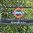 Westminster Bridge tube station — Stock Photo #36497077