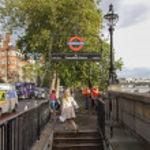 Westminster Bridge tube station — Stock Photo