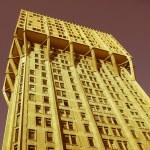 Retro looking Torre Velasca, Milan — Stock Photo #36586749