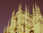 Retro looking Duomo, Milan — Stock Photo
