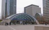 Estación de metro canary wharf — Foto de Stock