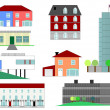 Stock Photo: Houses illustration