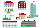 Houses illustration — Stock Photo