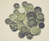 Vintage sepia Pounds picture — Foto Stock