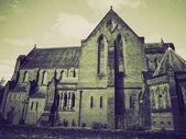 Vintage sepia Barony Parish Glasgow — Stock Photo