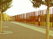 Retro looking Berlin Wall — Stock Photo