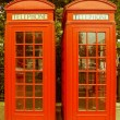 Retro looking London telephone box — Stock Photo