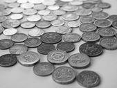 Britská libra mince — Stock fotografie