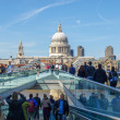 Millennium Bridge in London UK — Stock Photo