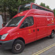 Stock Photo: Royal Mail van in London