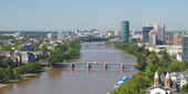 Aerial view of Frankfurt - panorama — Stockfoto