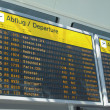 Flights time table — Stockfoto