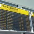 Stock Photo: Flights time table