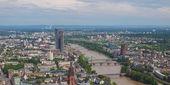 河畔法兰克福-全景 — 图库照片