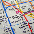 Stock Photo: New York subway map