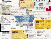 Concert tickets — Stock Photo