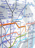Tube map of London underground — Stock Photo
