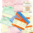 Public transport tickets — Stock Photo #39963823