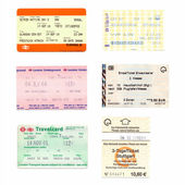 Public transport tickets — Stock Photo